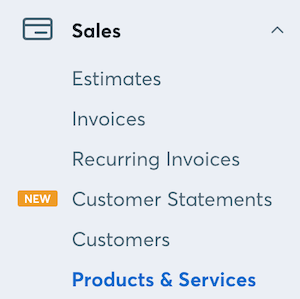 Sales】格里面的【Products & Services